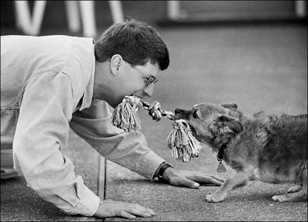 dog-owner-playing